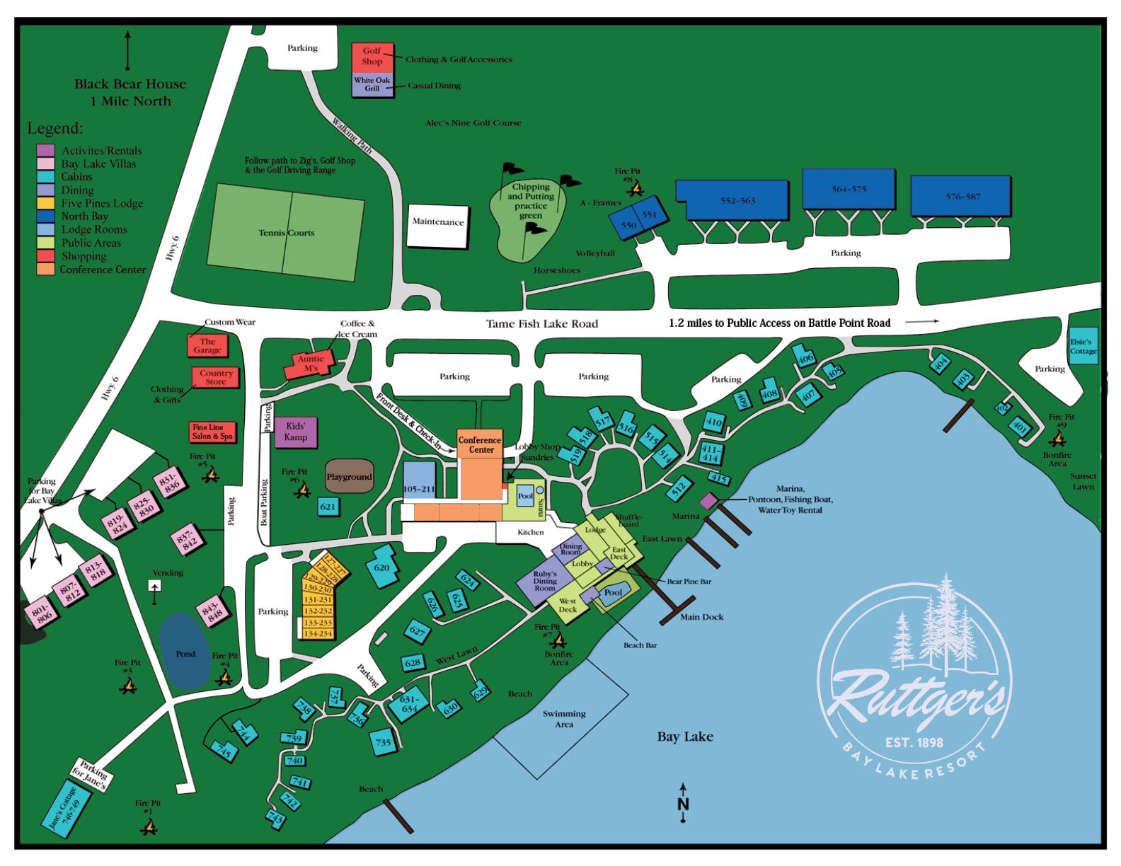 Ruttger's Resort Map