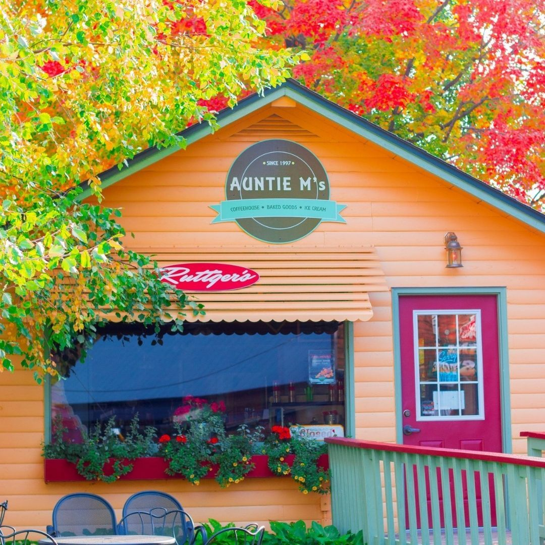 Auntie M's is opening TODAY and will be open on the weekends until Memorial Day! 🤩 We're excited for longer days and warmer weather so stop in and grab a cup of coffee or an ice cream cone THIS WEEKEND! 🍦 ☕   FUN FACT : Did you know Auntie M's was named after Auntie Mae Ruttger Heglund??    What's your favorite ICE CREAM FLAVOR?? 🍦 🍦 🍦 🍦   May 7–9: 7am–5pm May 14–16: 7am–5pm May 21–23: 7am–5pm  Beginning May 28: 7am–6pm (Daily)  #rblr #ruttgersbaylakeresort #deerwoodmn #cuyunalakes #auntiems #ruttgersretail #coffee #icecream #gourmetsnacks #roastedcoffee #espressodrinks #smoothies #tea