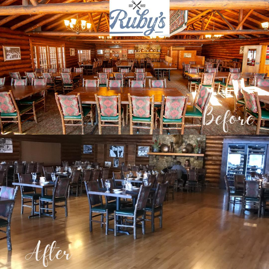 ⭐⭐Check out the refresh at Ruby's Dining Room!⭐⭐We've refinished the original maple floors and added a beautiful wine cooler. You'll love this new look, we promise!  Stop in and try Chef Erik's Lobster Mac & Cheese or our St. Louis style Smoked Ribs! Here's a link to our menu 😍 https://www.ruttgers.com/dining/rubys  #rblr #ruttgersbaylakeresort #deerwoodmn #cuyunalakes #rubysdiningroom #eatlocal