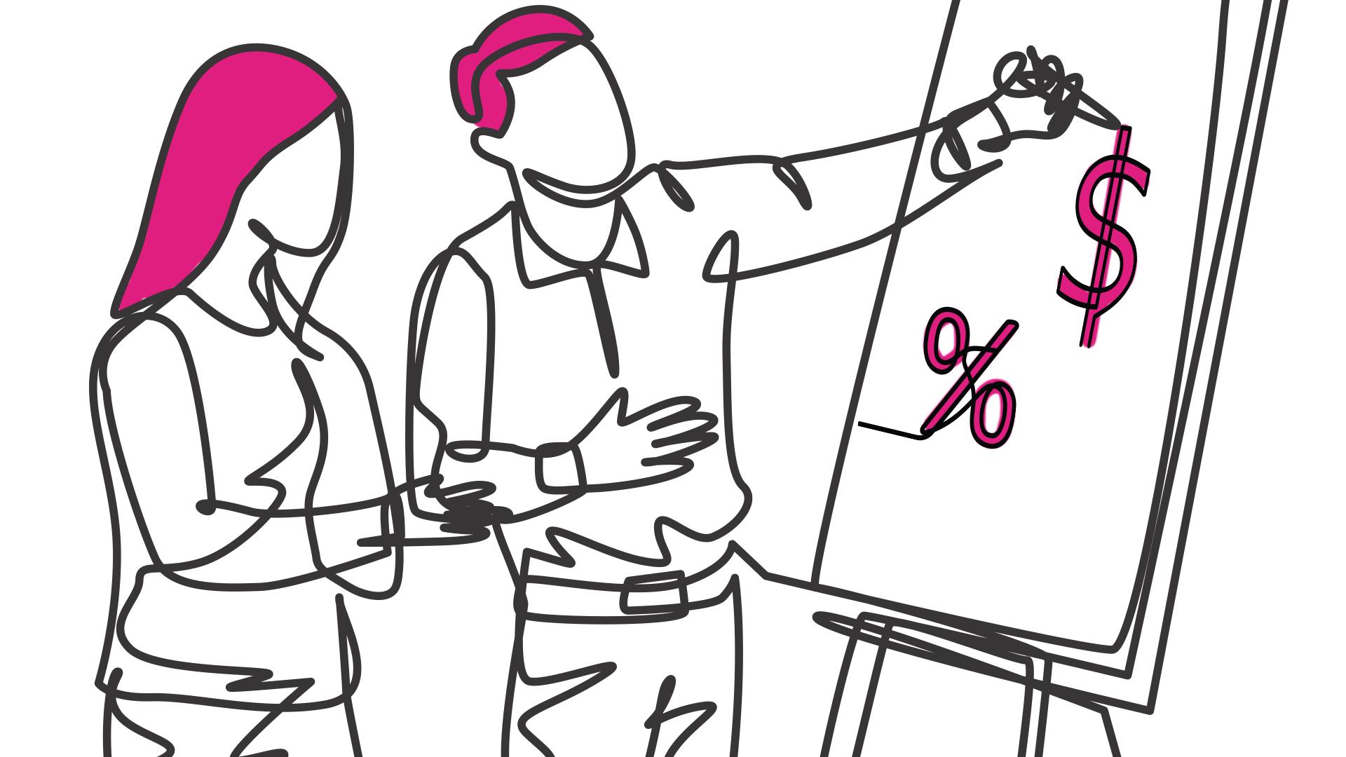 pessoas desenhando em um quadro branco
