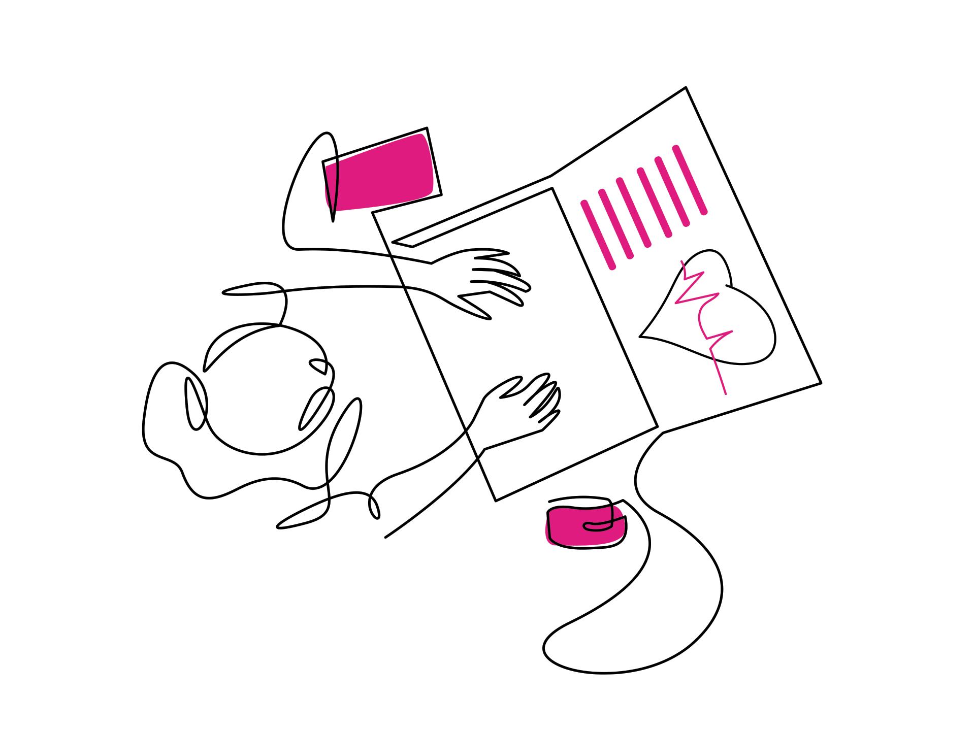 pessoa trabalhando em frente a um computador