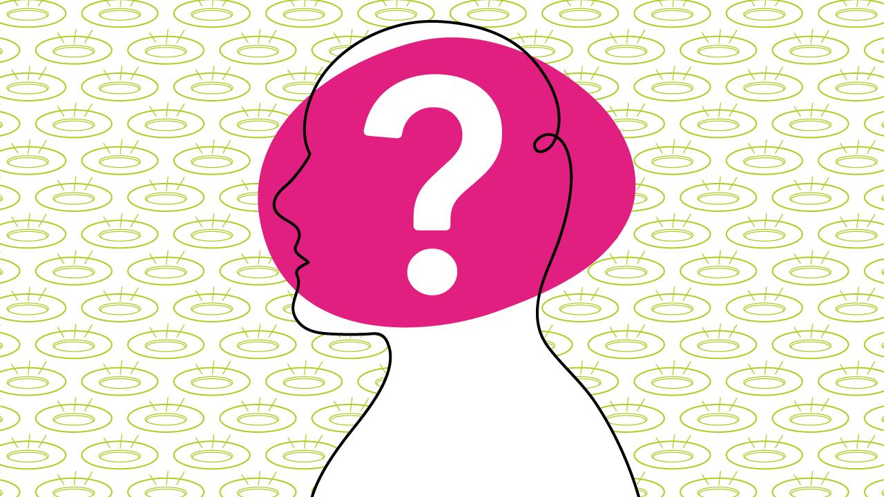 ilustração de uma pessoa confusa