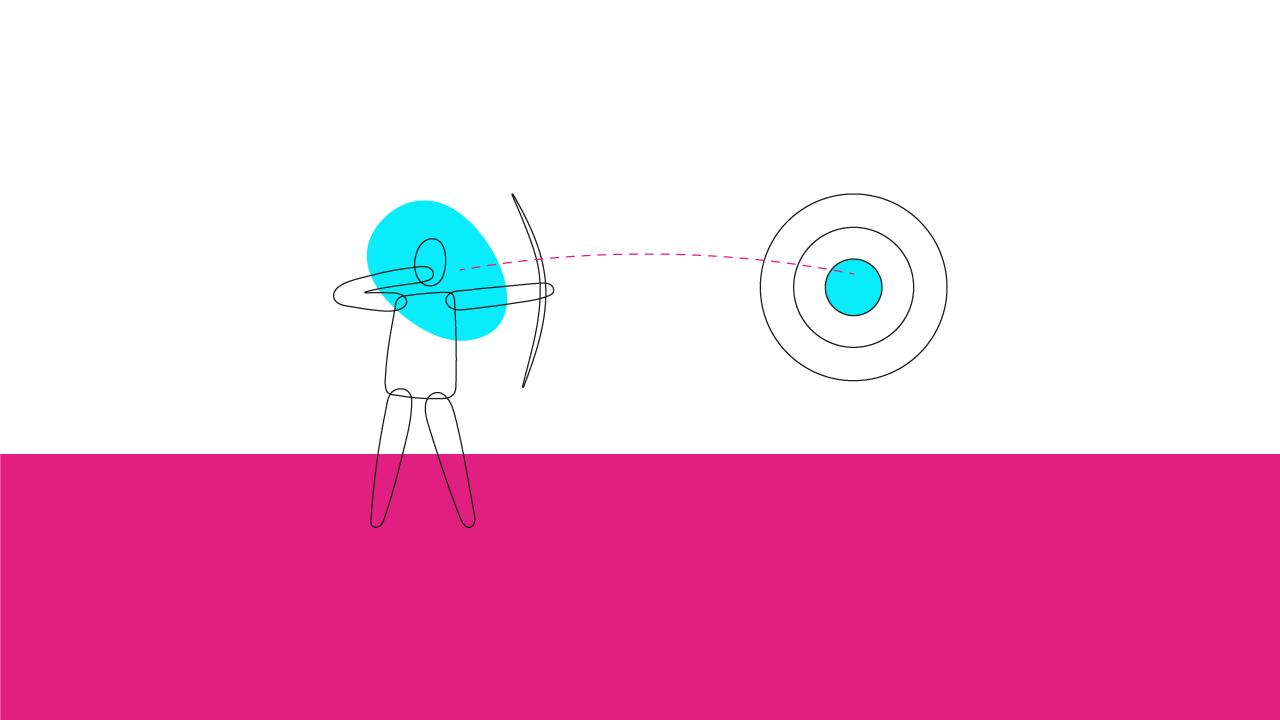 pessoa com arco e flecha atirando ao alvo