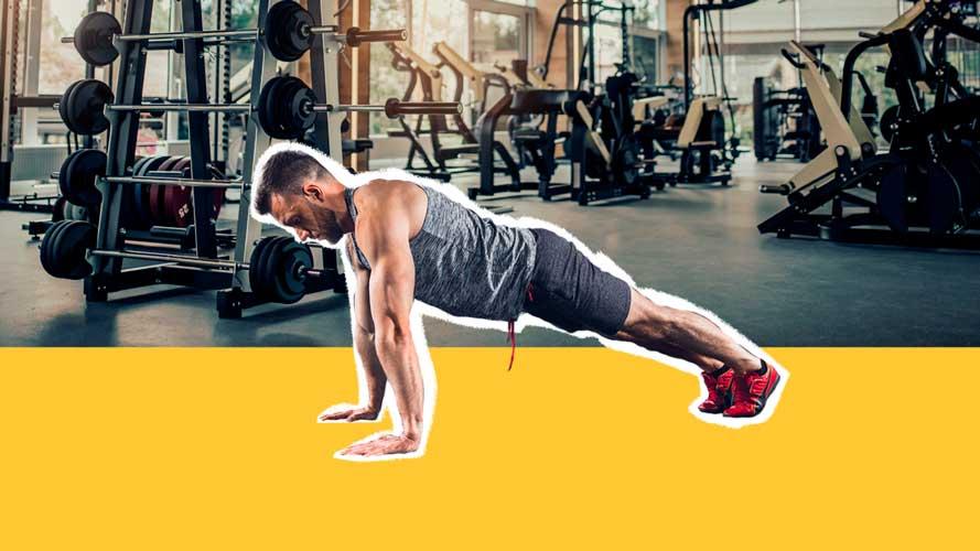 Imagem de homem fazendo exercício físico