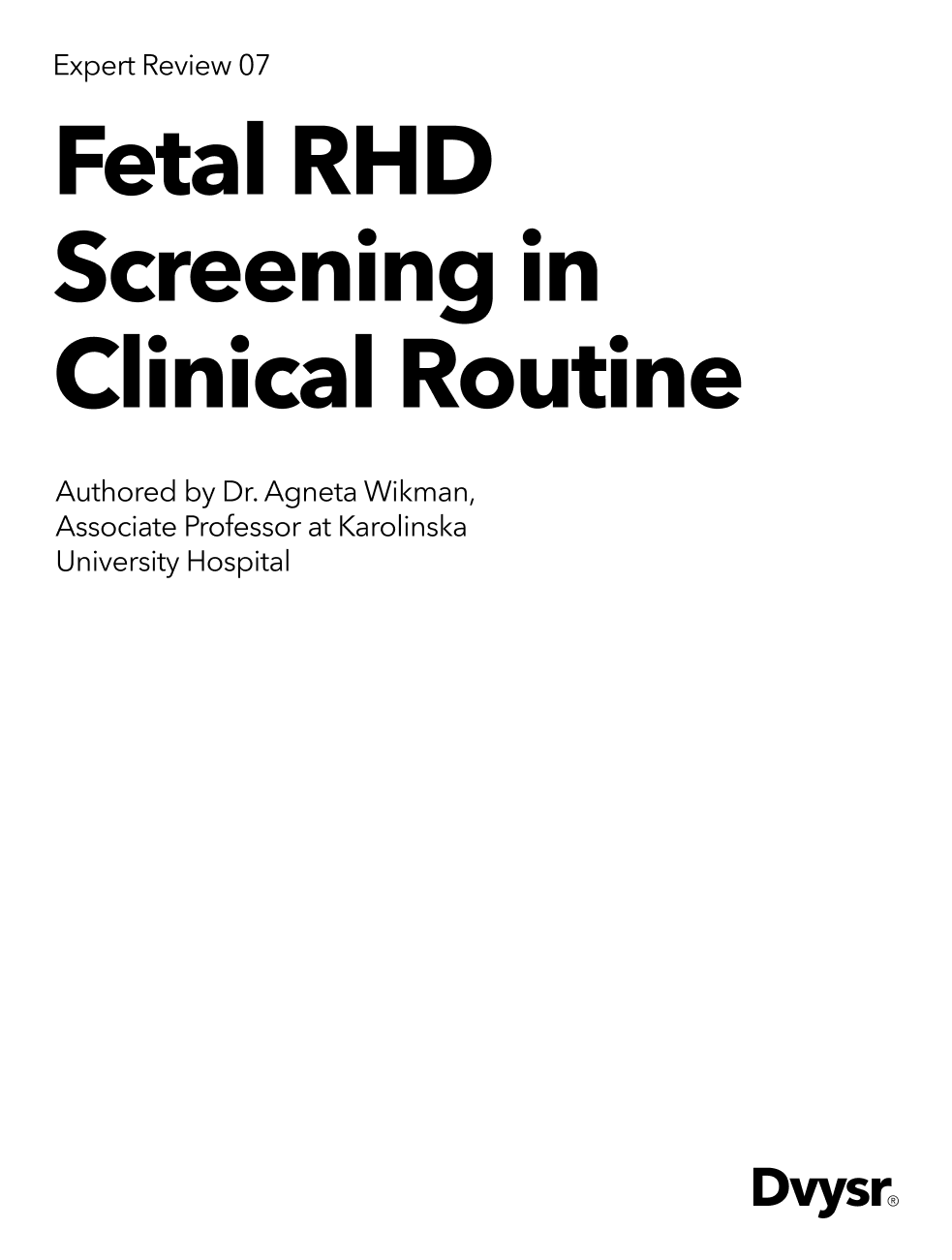 Non-invasive (NIPT) fetal RHD screening in clinical routine