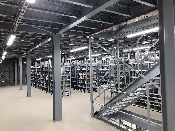 4-geschossige Fachbodenanlage mit über 30.000 Lagerplätzen.