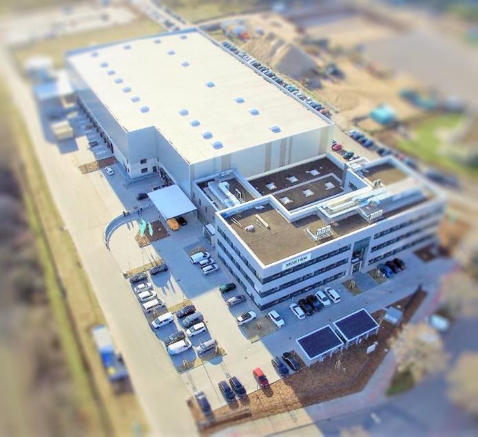 Mosters Firmenzentrale in Ludwigshafen mit angeschlossenem Logistikzentrum.