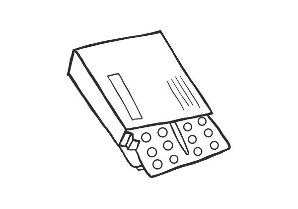 Skizze einer Priligy Verpackung
