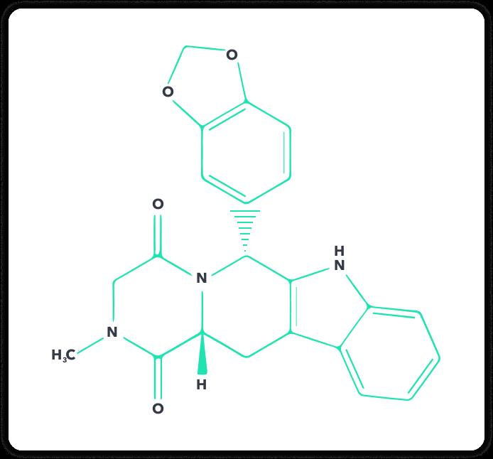 Der chemische Aufbau von Tadalafil | Spring | Quelle: https://www.gelbe-liste.de