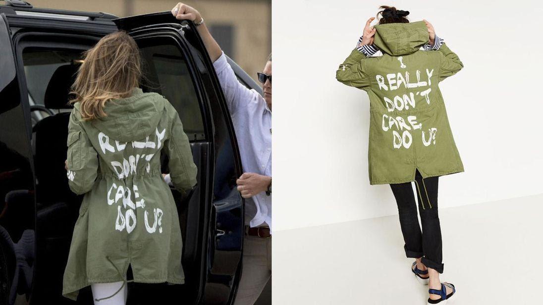 Image result for i don't care jacket trump