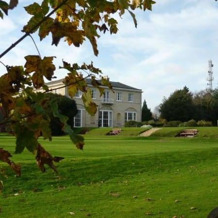 An outside view of Wherstead Park