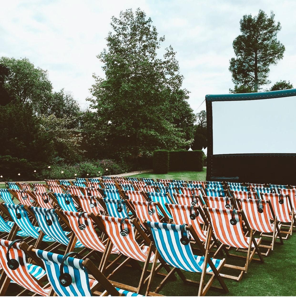 An outdoor cinema