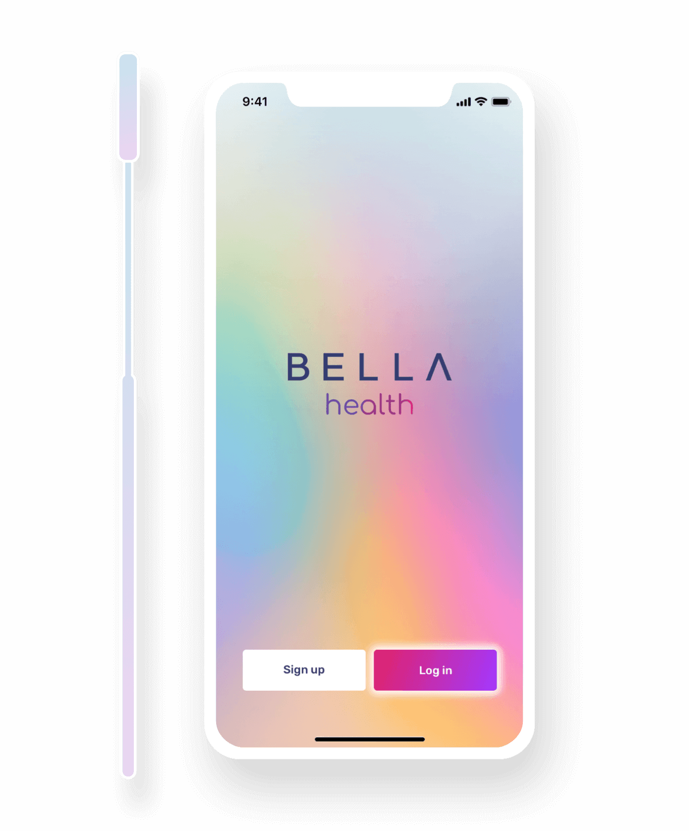 Smartphone with BELLA Health login for Covid-19 testing