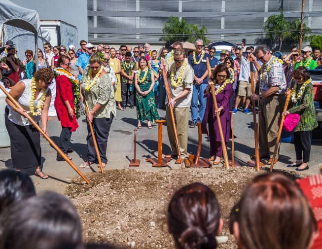 PACC Blessing; breaking ground