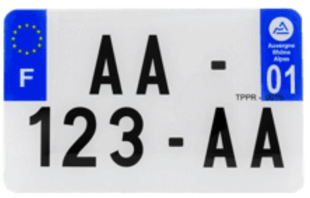 Plaque d'immatriculation homologuée moto - Esthétique & très résistante