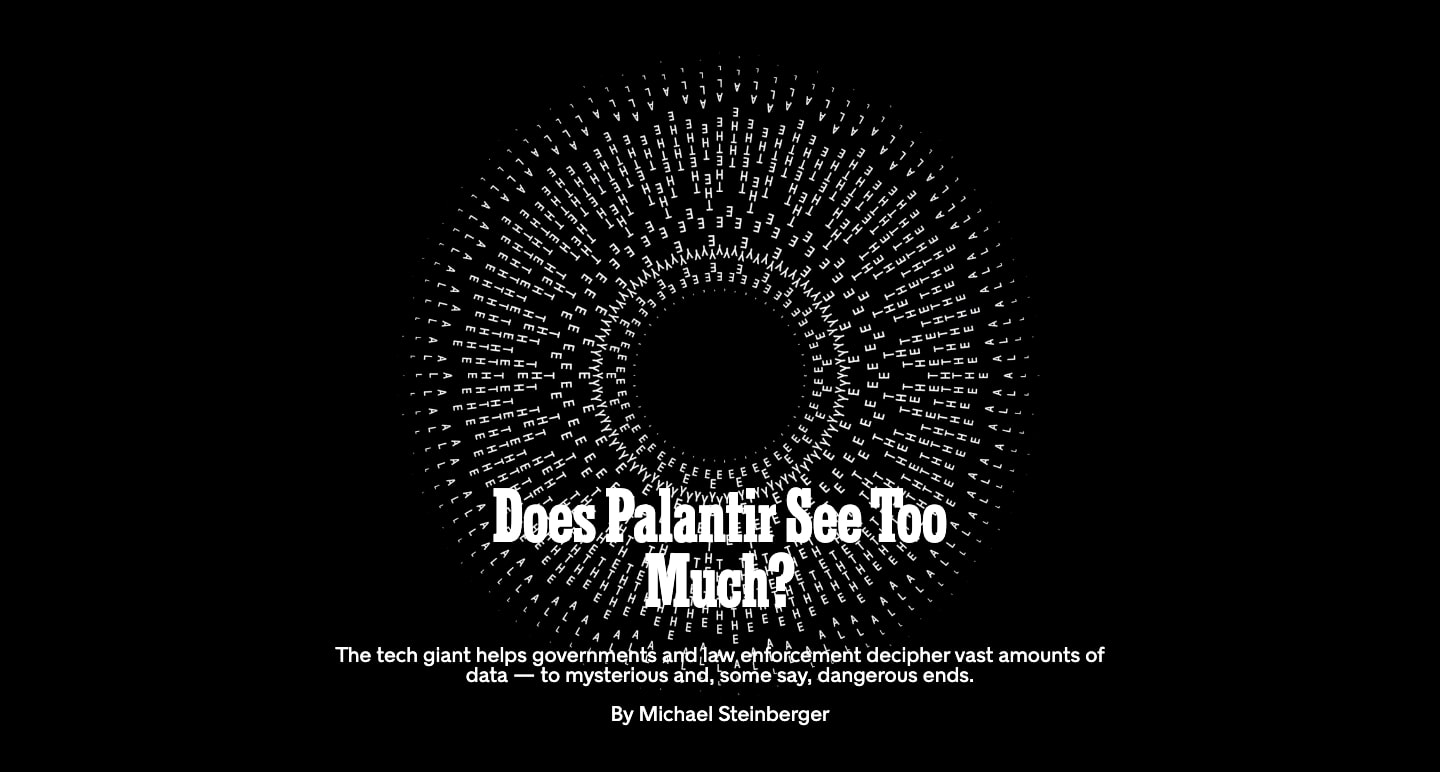 "The New York Times' website includes an audio feature for their article ""Does Palantir See Too Much?"""