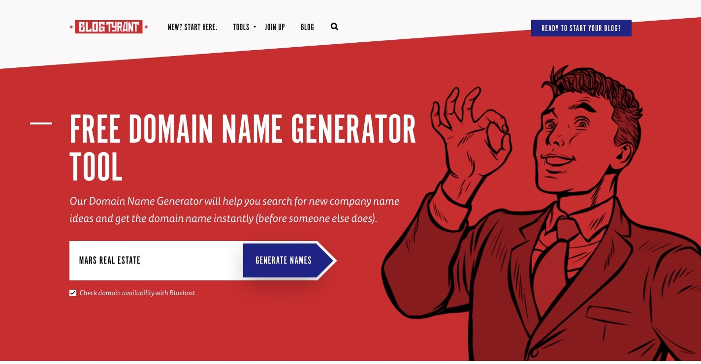 blog tyrant domain name generator