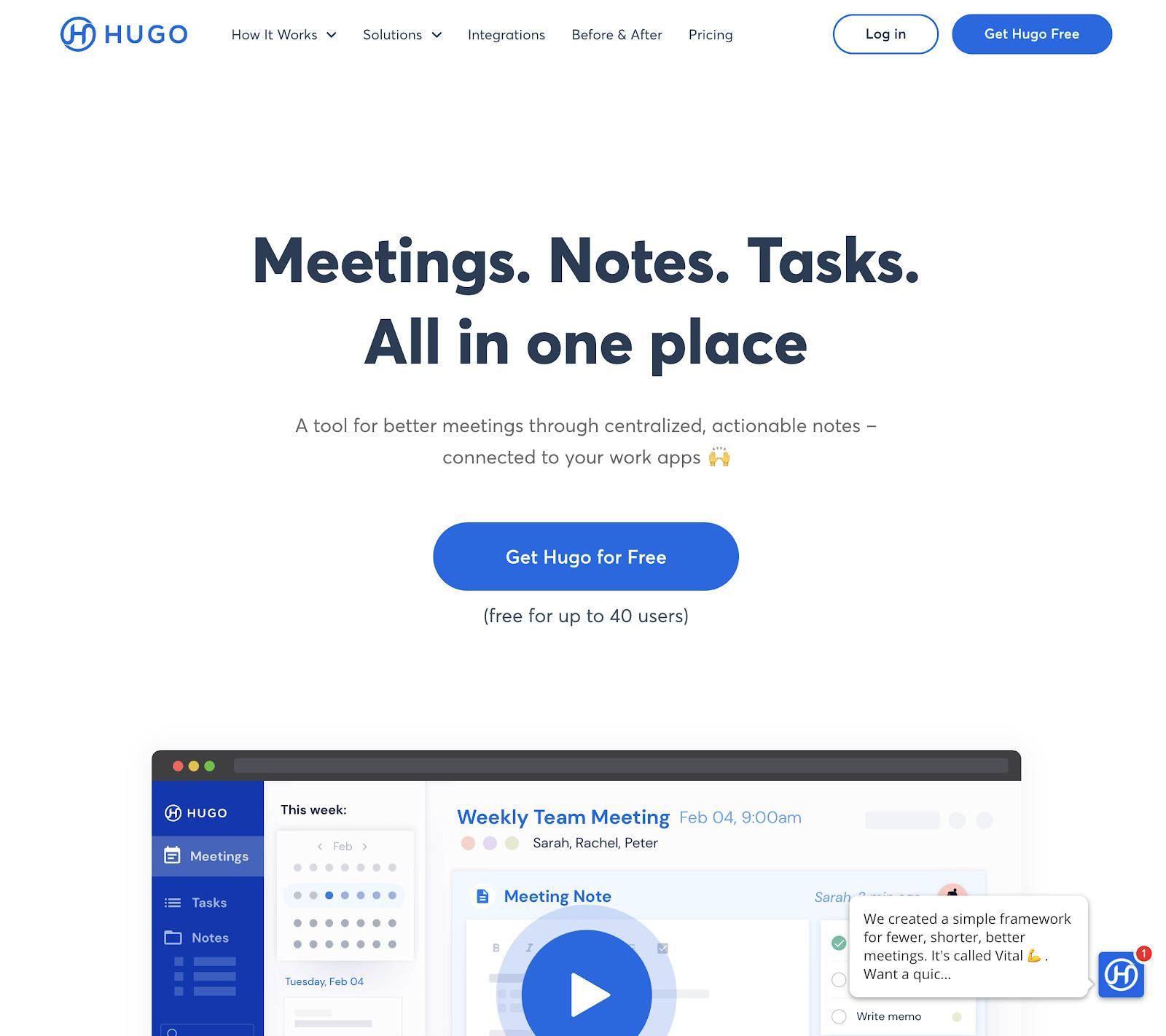 hugo website
