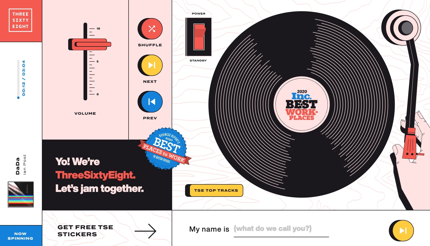project turntable interactive website
