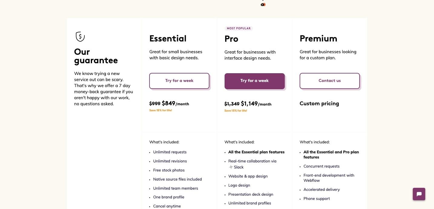 designjoy pricing page