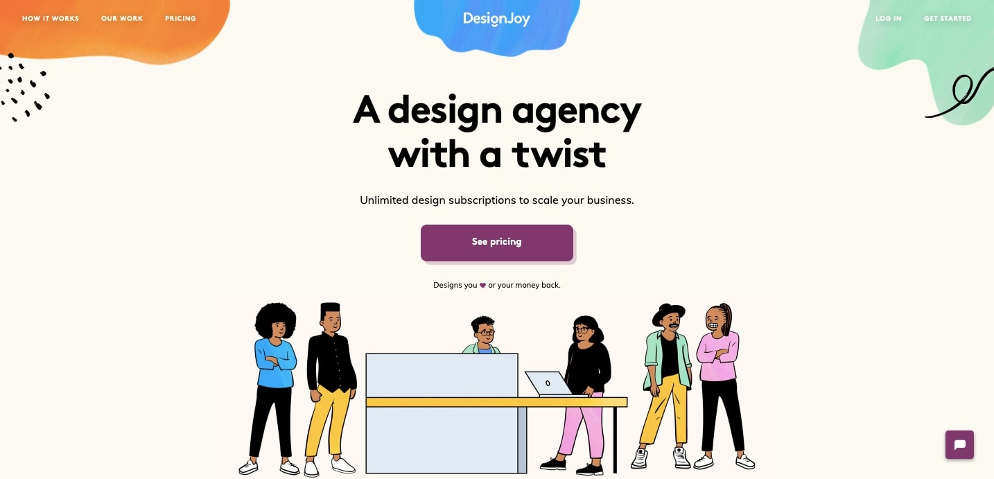designjoy hero section