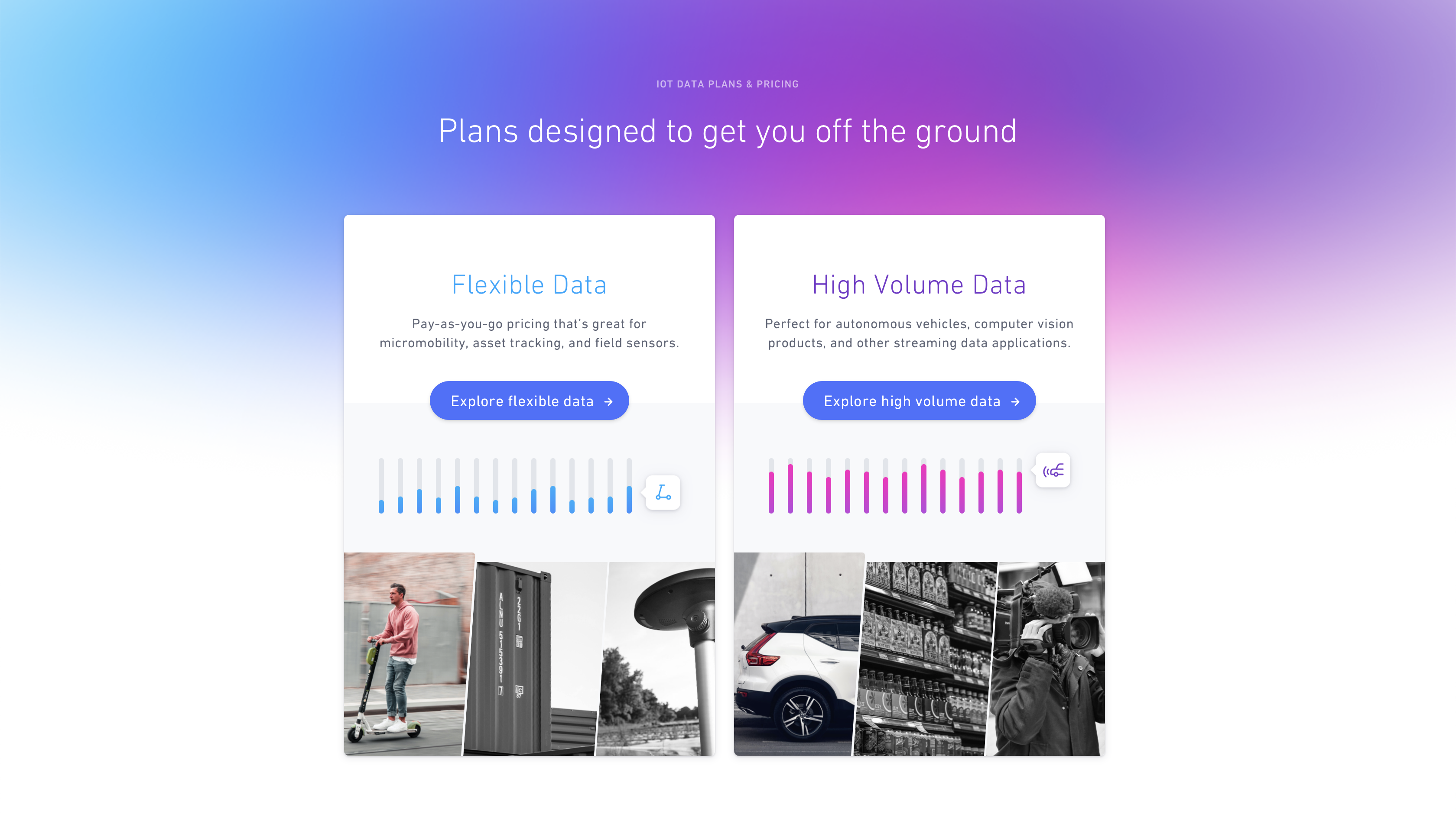 Hologram pricing page
