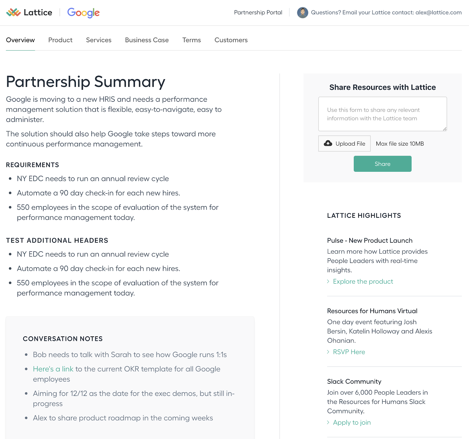 lattice partnership page
