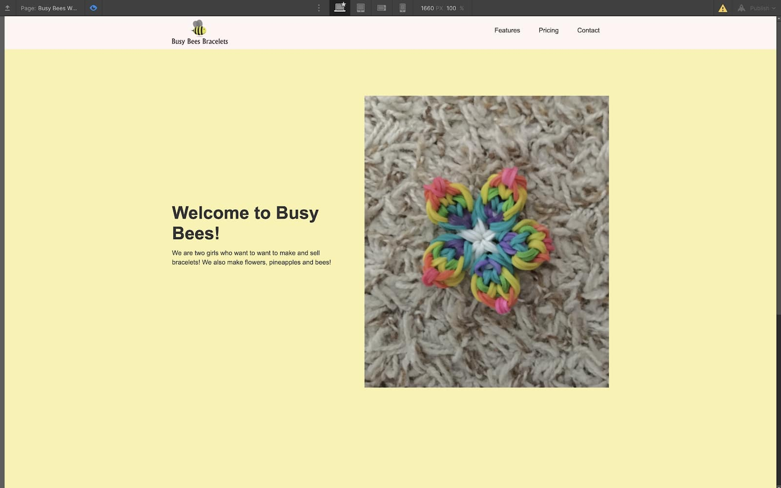 busy bees bracelets