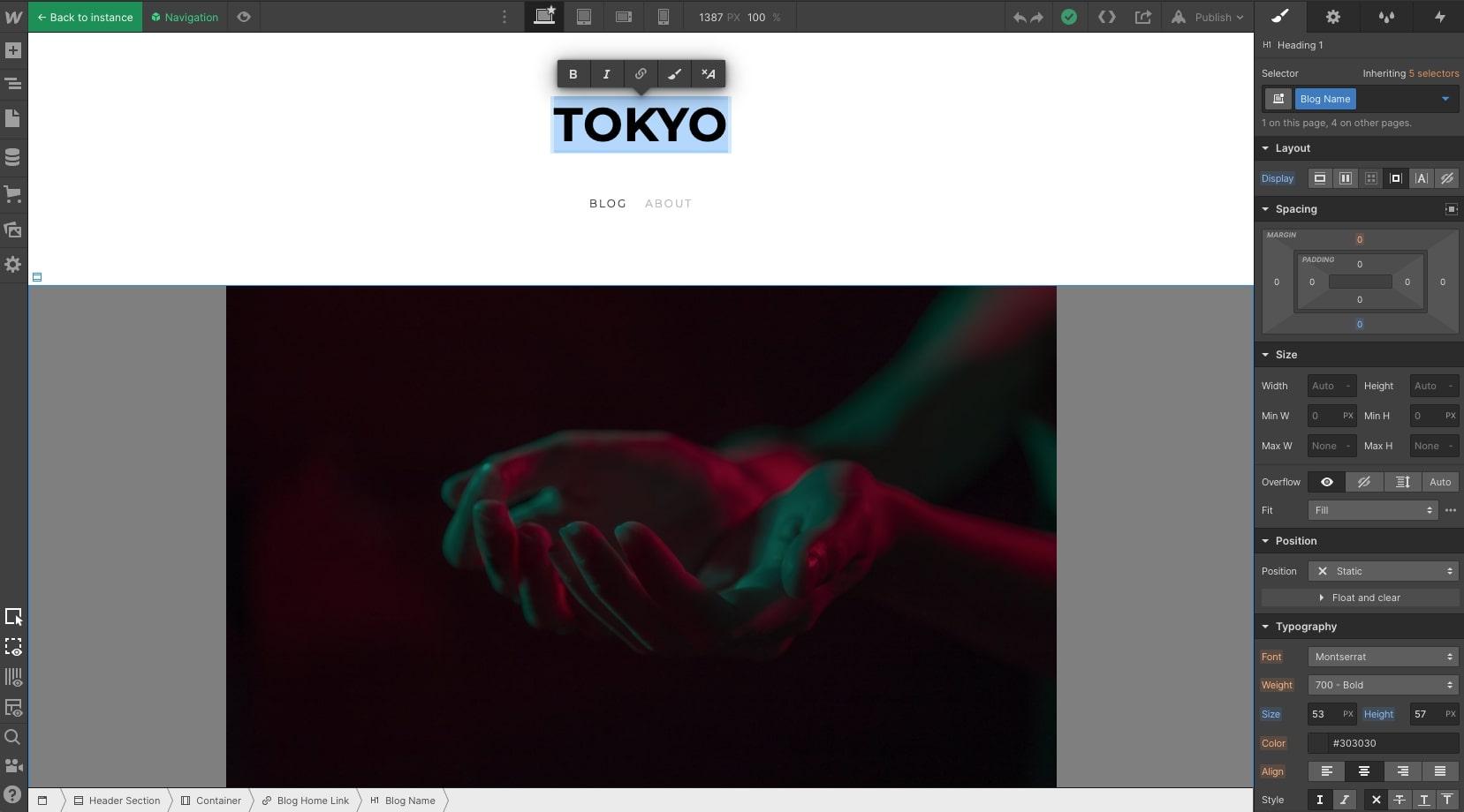 tokyo webflow template
