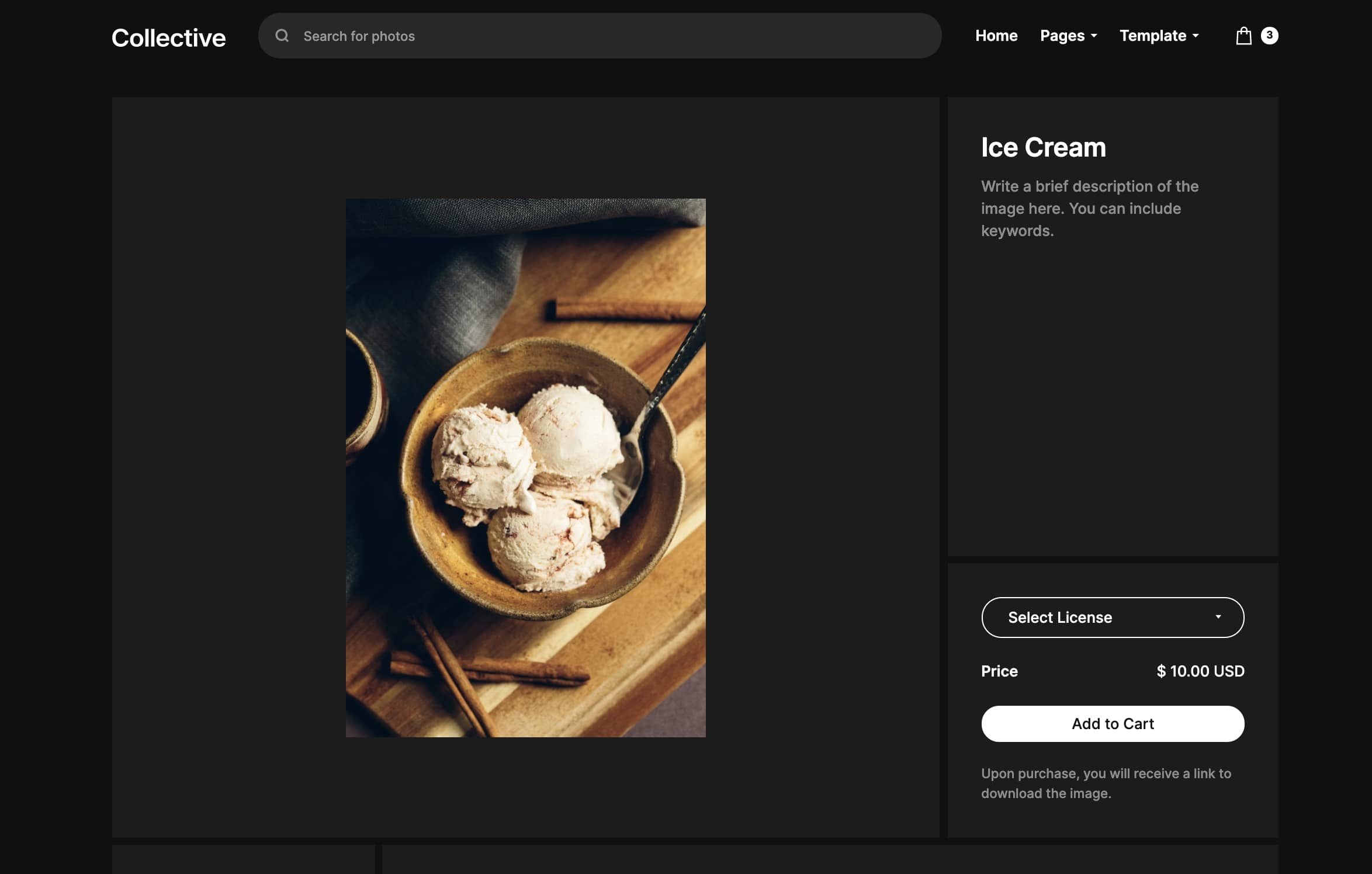 collective product page
