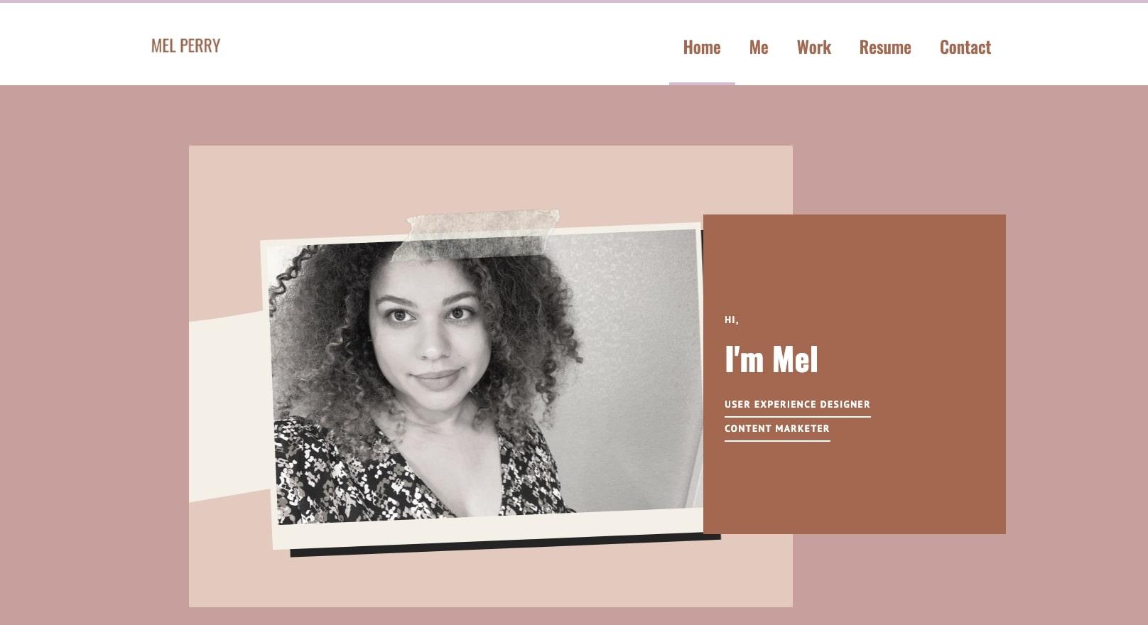 mel's online portfolio