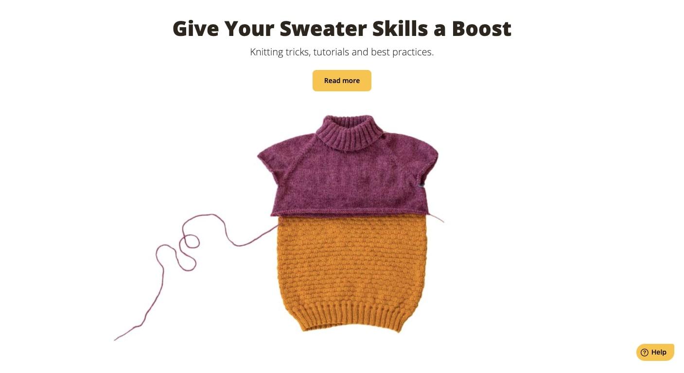 sweater made in bellish