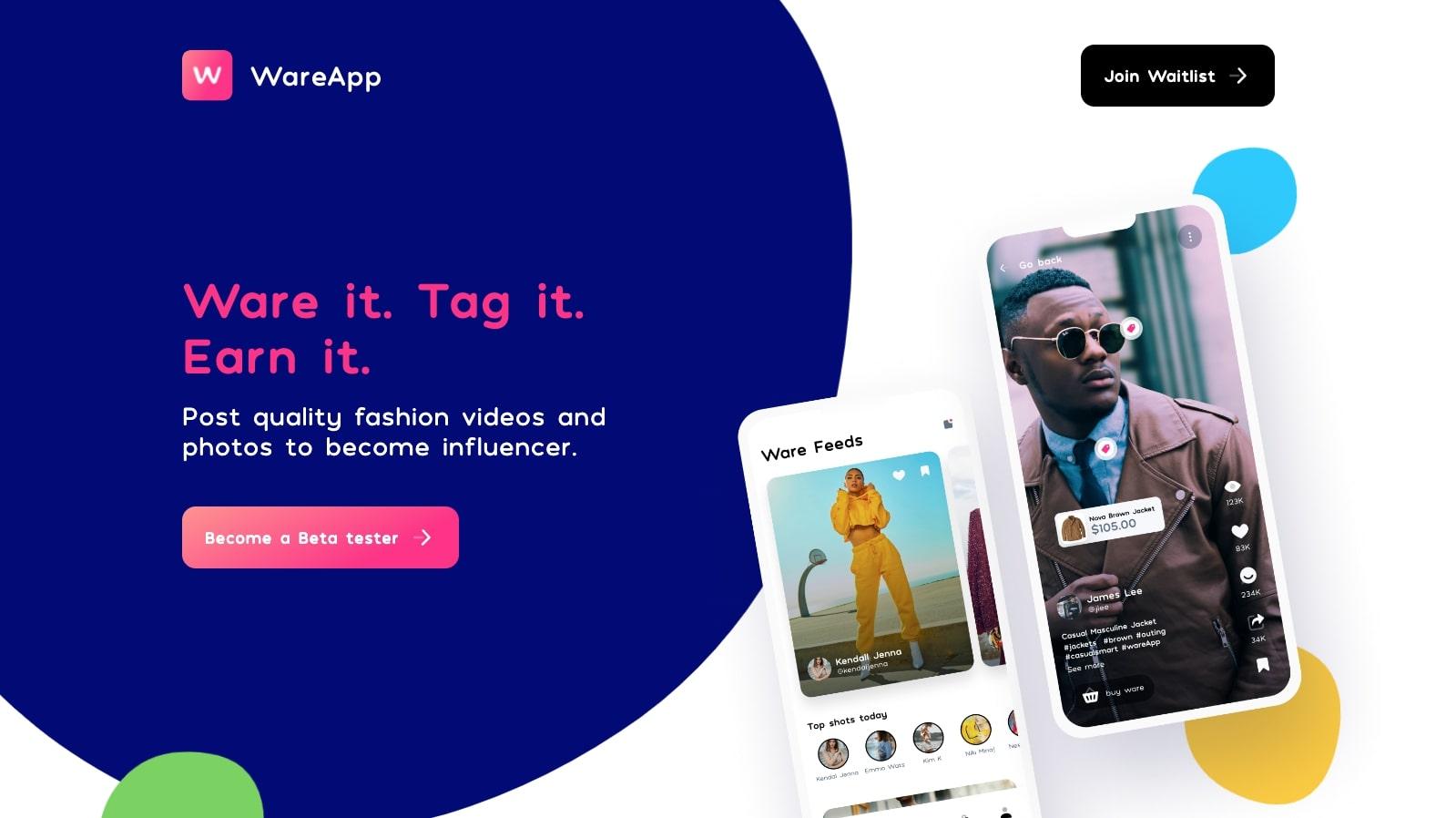 ware app landing page