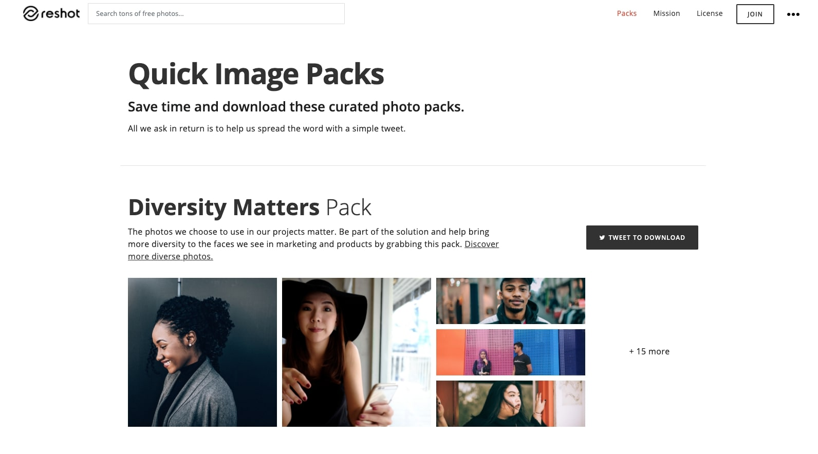 reshot image packs