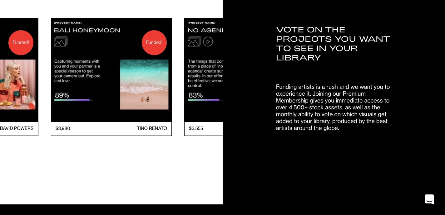vote on project images