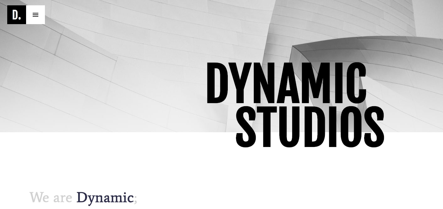dynamic studio portfolio template