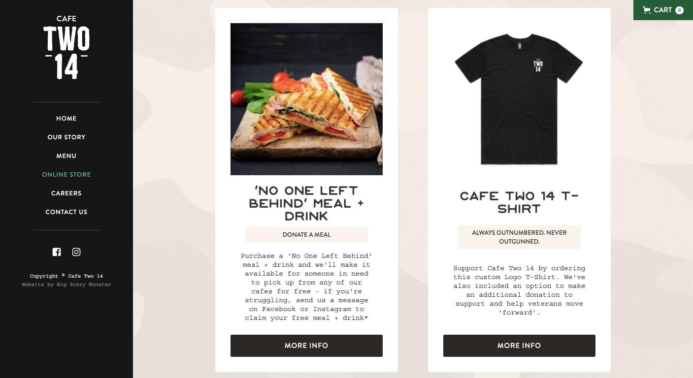 cafe two 14 products