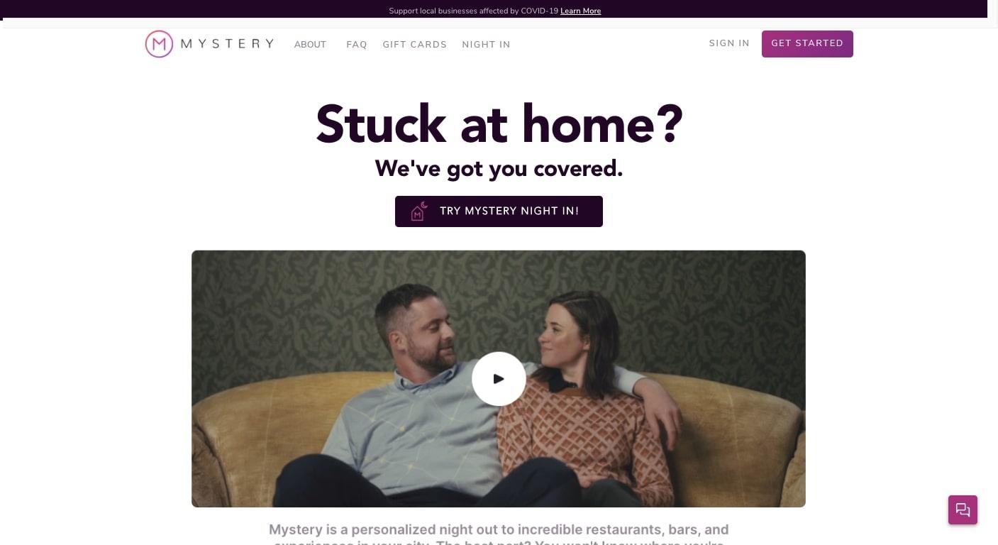 mystery website