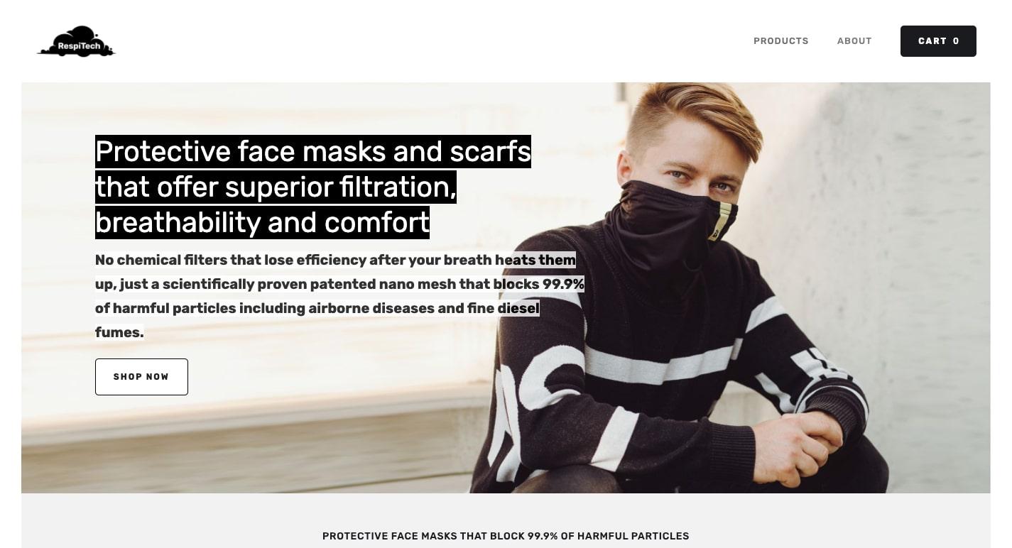 respitech face masks