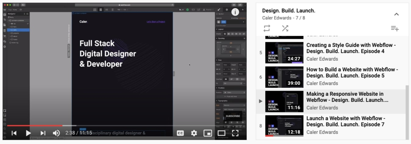 caler edwards design build launch course