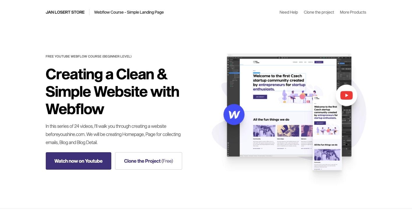 jan losert simple webflow course