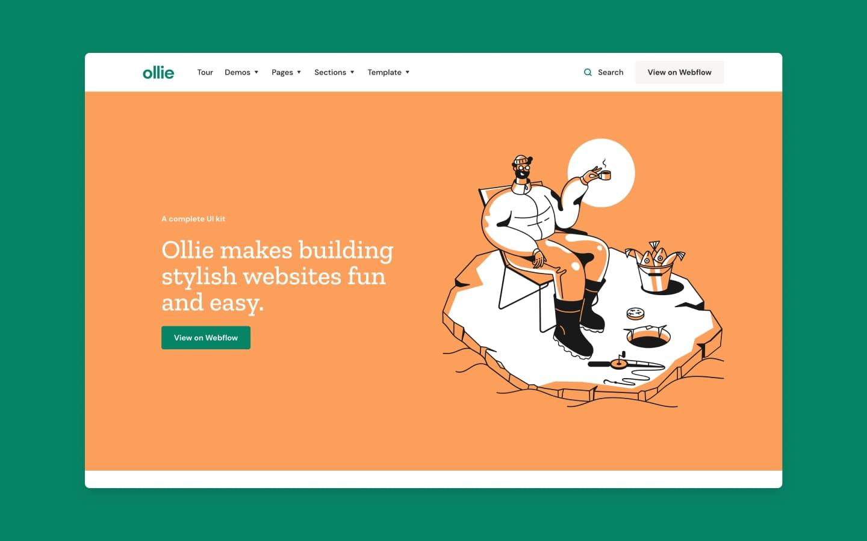 ollie webflow template