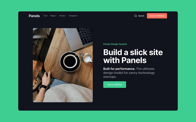 panels webflow template