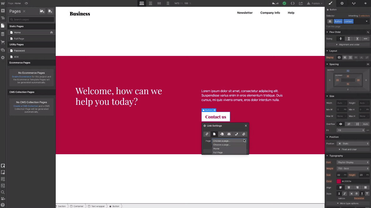 typeform in webflow designer
