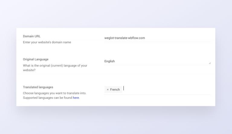 adding a domain in weglot
