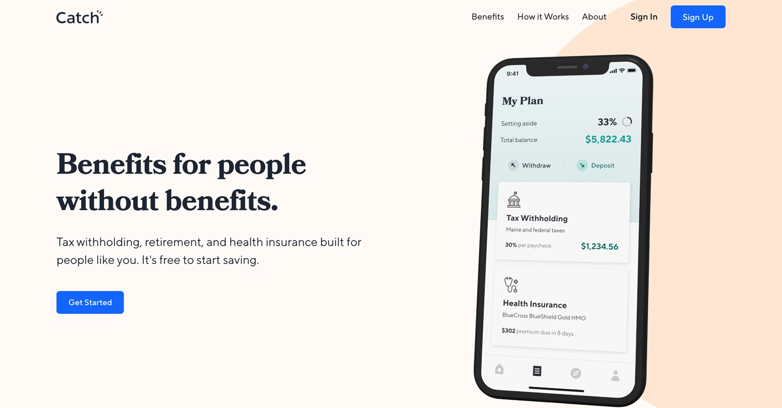 catch benefits website