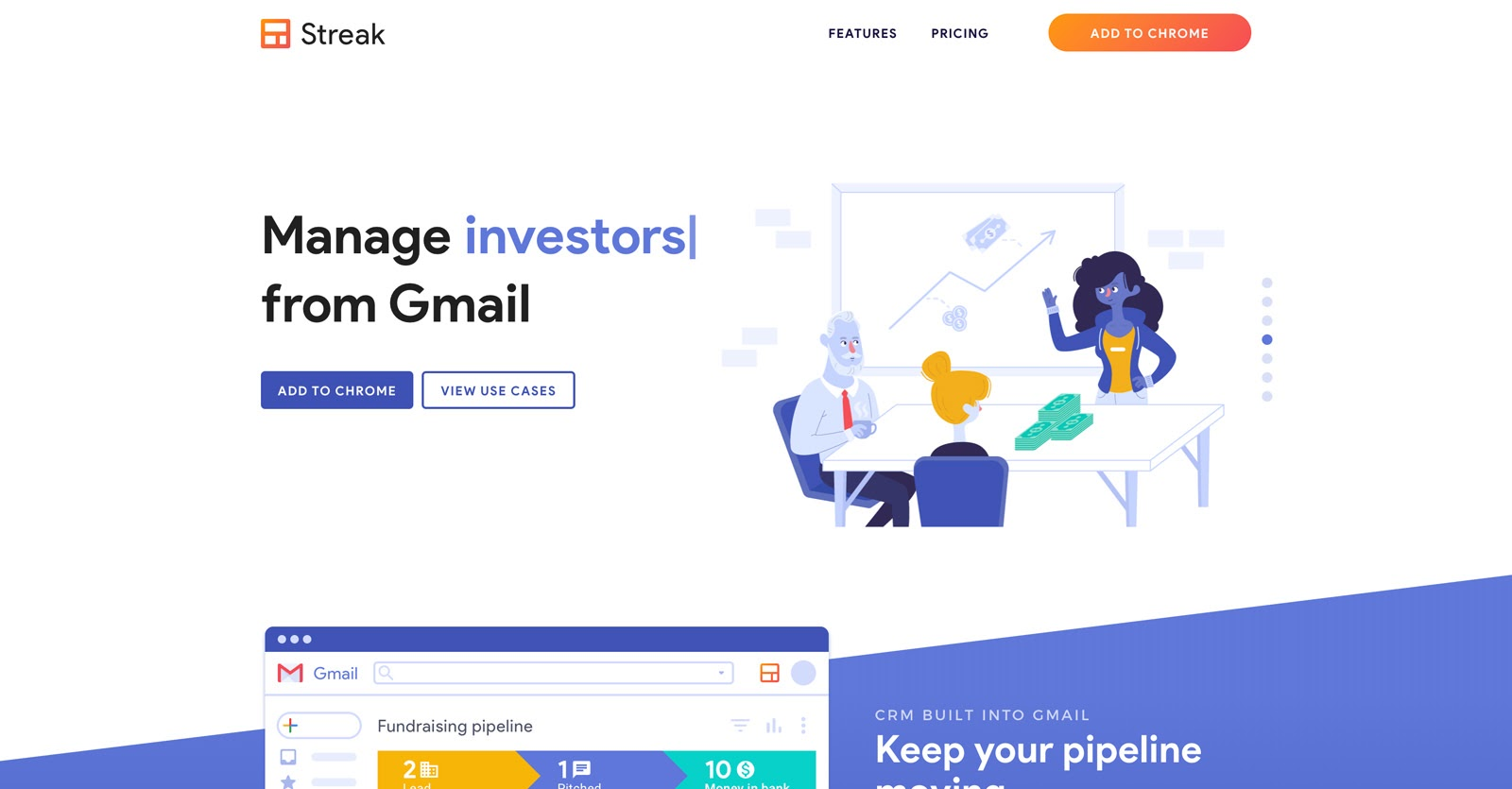 manage investors with streak