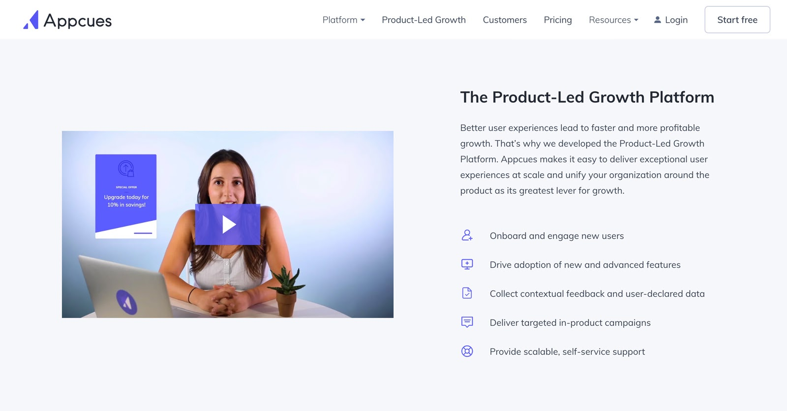 product-led growth platform