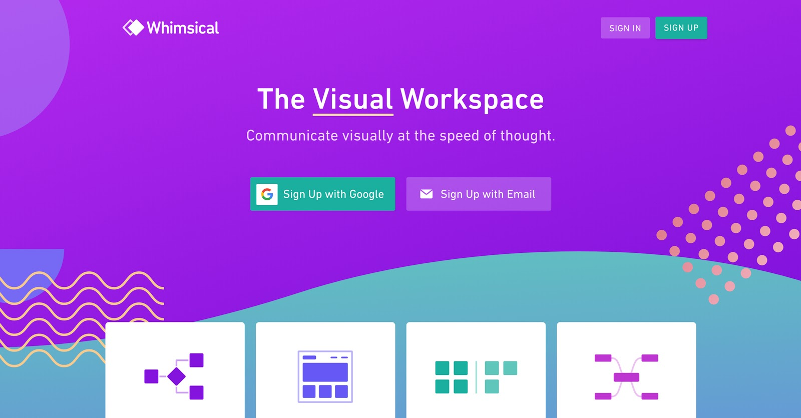 whimsical's visual workspace