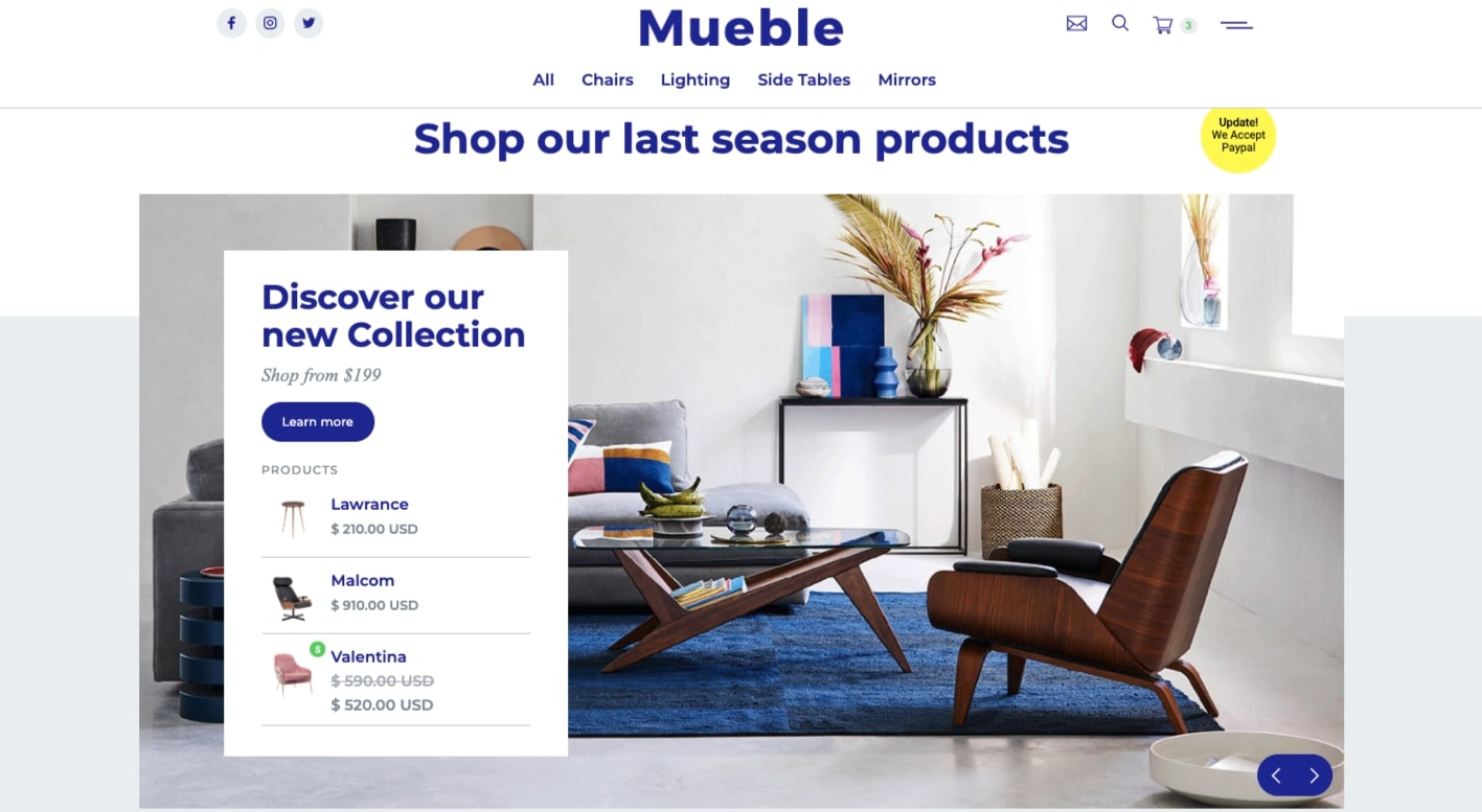 Ecommerce home page templates